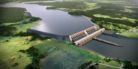 The Belo Monte Dam in the Amazon is one of many hyrdopower projects that are dependent on rainforest cover to generate energy supply