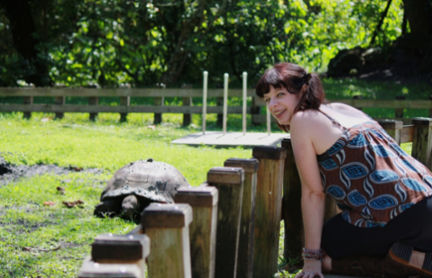 Visiting with an ancient tortoise at the Flamingo Gardens wildlife rehabilitation center and sanctuary, last year… I would have climbed in for cuddles, if possible.