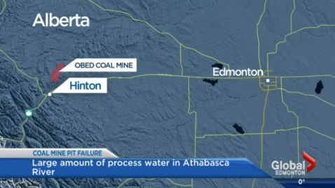 """Major failure"" of a pit at a coal mine near Hinton."