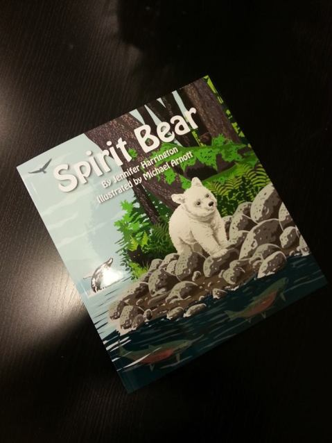 A first copy of 'Spirit Bear,' hot off the presses!