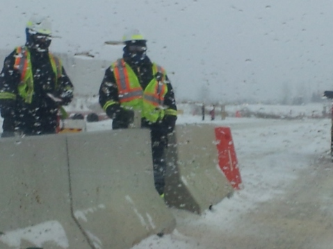 The guards were not happy to discover a 'tourist' taking photos of the Syncrude project.