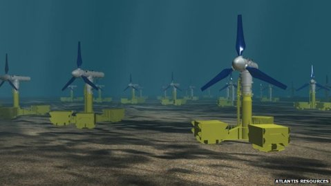 turbine farm